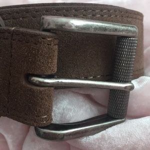 Accessories - Belt in brown suede well made 🐂